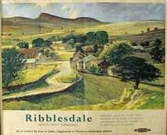 Inch Print - High quality print (other products available) - British Railways (LMR) poster of Ribblesdale, Stainforth, near Settle. Artwork by Greene. <br> - Image supplied by National Railway Museum - Photo Print made in the USA Posters Uk, Train Posters, Railway Posters, Poster Prints, Vintage Advertising Posters, Vintage Travel Posters, Advertising Signs, Vintage Ads, Vintage Style