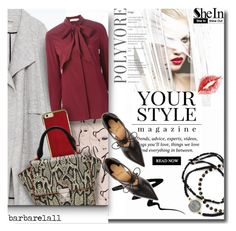 """SheIn 1"" by barbarela11 ❤ liked on Polyvore featuring Zara, Pussycat, Tory Burch, Christian Louboutin, Eyeko and Feather & Stone"