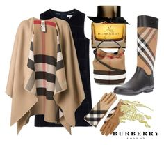 """The most famous painting in the world"" by nurinur ❤ liked on Polyvore featuring Burberry"