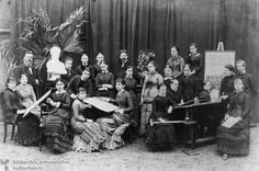 Graduating Class of a Girl's Vocational School in Hamburg (1882)  The range of employment opportunities for young women graduating from vocational institutes was usually very limited. This photograph of the graduating class of a girl's vocational school in Hamburg was taken in 1882.