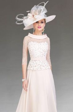 Short fitted dress with bow detail at neck. 6393 - Catherines of Partick Full Skirt Dress, Dress With Bow, Lace Dress, Chiffon Dress, Lace Bodice, Mother Of Bride Outfits, Mother Of Groom Dresses, Top Wedding Dresses, Bridal Dresses