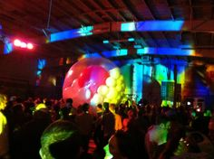 Photo by @Philippa Hughes. The zorb is full of light.