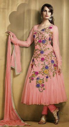 Sparkling Rose Pink Salwar