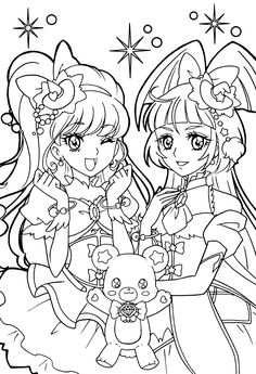 pretty cure coloring pages google search glitter force pinterest pyssel. Black Bedroom Furniture Sets. Home Design Ideas