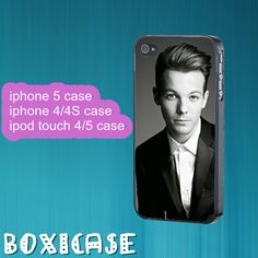 Louis Tomlinson,ONE DIRECTION--iphone 4 case,iphone 5 case,ipod touch 4 case,ipod touch 5 case,in plastic,silicone and black , white. by Boxicase, $14.95