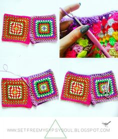 Shake that Crochet-queen booty in some awesome crochet Granny Square shorts with this quick and easy free crochet pattern! Great even for ...