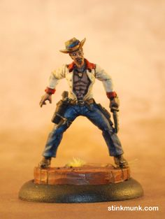 Latigo Pistolero 2 of 3, First Edition. Model by Wyrd Miniatures, painted by Stinkmunk (2012). #Malifaux