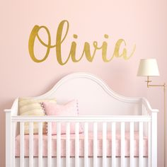 Nursery Wall Decal Personalized Names Wall Decals For Kids Madelyn - Monogram wall decal for nursery