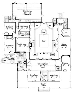 Home Plans HOMEPW13367 - 3,886 Square Feet, 4 Bedroom 3 Bathroom Farmhouse Home with 3 Garage Bays