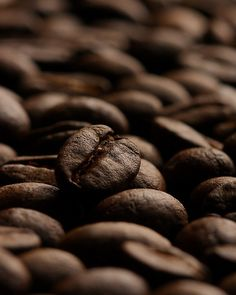 Macro Coffee Beans by Picture Zealot Hang in kitchen