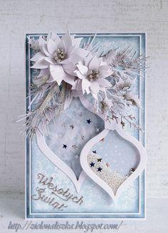 Papierowe chwile zielonejliszki, Christmas card with ornaments