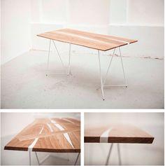 "http://www.matejhajek.com  ""ESBJORN"" COSTUM MADE TABLE FOR H&M SHOWROOM IN PRAGUE…"