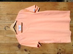 Peach Nectar. 100% Supima Cotton. Made in America. $25.00.