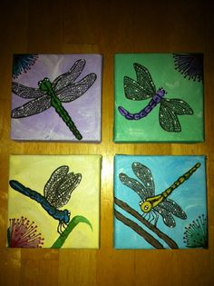 Dragonfly Set - SOLD   Interested?  I can do another like this for you.  Just contact me at mandyterry@gmail.com