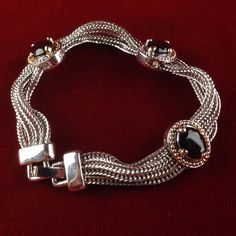 Exotic Retro Platinum Layered  Mesh Bracelet (soft, made   by hand in Europe) KS00058-BK|We combine shipping|No Question Refunds|Bid $60 for free shipping. Starting at $1