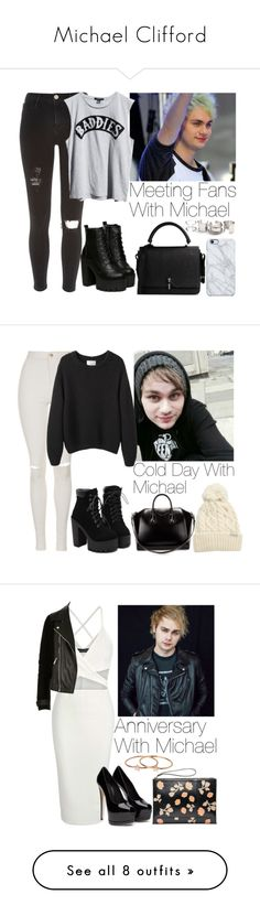"""""""Michael Clifford"""" by lovatic92 ❤ liked on Polyvore featuring River Island, Mikey, Ksubi, Carven, Uncommon, Free People, women's clothing, women's fashion, women and female"""