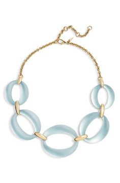 Alexis Bittar Essentials Large Lucite Link Necklace In Grey Blue Shop Alexis, Alexis Bittar, Everyday Look, Luxury Branding, Blue Grey, Women Accessories, Essentials, Hand Painted, Link