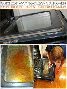 Quickest way to clean your oven without any chemicals..