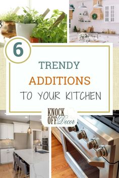 We all know that the kitchen is the core of every home, where you and your family spend a lot of time eating, cooking, or washing the dishes.But did you know that your kitchen is the one place that controls your lifestyle? If you're considering adding a few retouches to your kitchen to be trendy and healthy, read on for 6 additions that are game-changers. Diy Kitchen Decor, Kitchen Ideas, Kitchen Design, Home Decor, Knock Off Decor, Farmhouse Design, Decoration, Country Decor, Kitchen Remodel