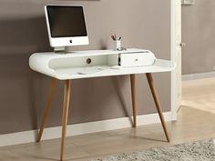 Curve Tower Desk White