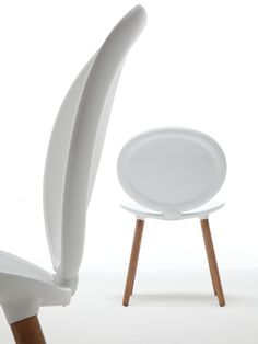 Jonathan 2013 | Modern chair with wooden structure by Tonon