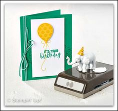 Balloon Adventures Masculine Card in Green