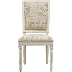 French Square Side Chairs - Set of 2 ($499) ❤ liked on Polyvore featuring home, furniture, chairs, dining chairs, upholstery chairs, french chair, set of 2 dining chairs, painted fabric chair and set of two chairs