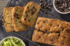 Our Chocolate-Zucchini Bread features a surprise ingredient (our HEINZ SERIOUSLY GOOD Mayonnaise) that makes it super moist and tender. And as a bonus, the recipe also includes BAKER'S Semi-Sweet Chocolate Chips for extra flavour. Chocolate Zucchini Bread, Zucchini Bread Recipes, Zucchini Cake, Kraft Recipes, Cookie Desserts, Healthy Desserts, Mayonnaise, Cinnamon Banana Bread, Bread Cake