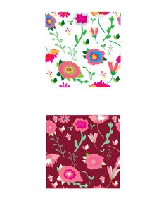 Pattern: Flowers and leaves