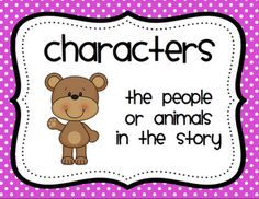 """Mrs. Ricca's Kindergarten: Freebies I love these """"Story Elements"""" posters!"""