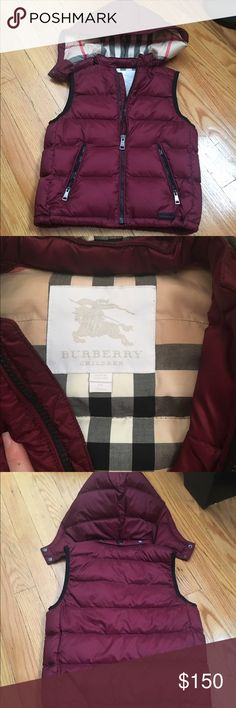 Kids Burberry Vest Kids Burberry Vest. Size 5Y. Great condition Burberry Jackets & Coats Vests