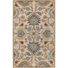 @Overstock - Hand-tufted in wool, this rug features a traditional design and a plush pile. The color ivory accents this area rug. http://www.overstock.com/Home-Garden/Hand-tufted-Amanda-Ivory-Wool-Rug-5-x-79/6458247/product.html?CID=214117 $142.79