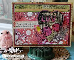 """Scrapbook Flair: """"LUV"""" in' Me Some Paste with Stampendous"""