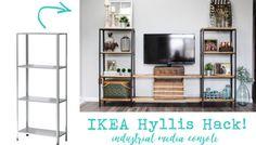 IKEA Hyllis Hack: Industrial Media Console