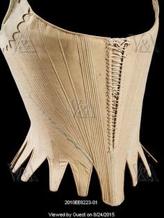 Stays. England, late 18th century