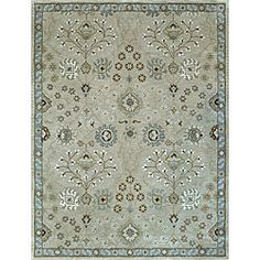 @Overstock.com.com - This stunning Genus hand tufted-rug features a densely woven pallet of beautiful and durable wool. With a one-inch pile height, this fashionable rug adds warmth and decoration to any room that is easy on the eyes and even easier on the feet.http://www.overstock.com/Home-Garden/Hand-tufted-Genus-Beige-Blue-Wool-Rug-5-x-76/6131385/product.html?CID=214117 $190.99