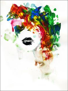 Black Lips Fine Art Print by Lora Zombie - Prints starting at $49.99 http://www.eyesonwalls.com/products/black-lips #lorazombie #eyesonwalls