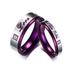 1pc #women men love joker purple titanium steel #elegant promise #lover's ring,  View more on the LINK: http://www.zeppy.io/product/gb/2/131692287219/