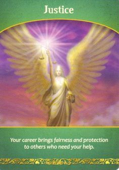If you pull this card as part of your spread it may mean that part of your Life Purpose or career is about bringing empowerment energies and justice to others.  See the full description here http://www.angelmessenger.net/justice/