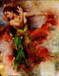 Fine Art Artists: Artist James Wu Mixed media Oil Paintings, Figure Paintings
