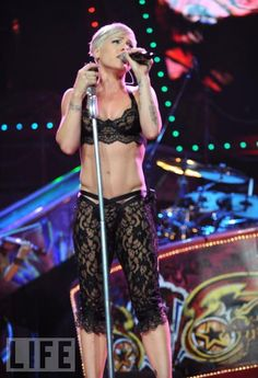 Pink. Saw her in concert - An awesome performer but disappointed she didn't play more of her old stuff.