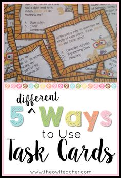 Are you looking for some new ideas on how to use task cards in the elementary classroom? Check out these 5 different ways to engage students using task cards!
