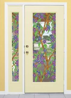 "Biscayne See-Thru Stained Glass Decorative Window Film 24"" x 43"" by Wallpaper for Windows. $33.95. Easy to remove without any damage or sticky glue left behind ~ Can be reused. Easy to Install ~ Clings tightly with no mess and no fuss ~ Truly a DIY window film. Easy to trim to fit ~ Just use scissors or utility knife ~ Great for specialty size windows. Free squeegee smoothing tool and detailed instructions included. High quality 8-mil thick film ~ Keeps room cooler in summer and ..."