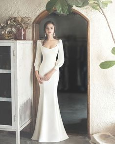 Glamorous Long Sleeve Wedding Dress, You can collect images you discovered organize them, add your own ideas to your collections and share with other people. Country Wedding Dresses, Classic Wedding Dress, Princess Wedding Dresses, Modest Wedding Dresses, Bridal Dresses, Wedding Gowns, French Wedding Dress, Wedding Bride, Wedding Venues