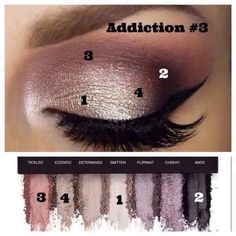 Recreate this gorgeous look with Addiction Palette number 3 with seven vibrant, rich, pigmented, long lasting, crease proof & eye popping colors for $49 @ www.MelissasMineralMakeup.com #palette #makeup #younique