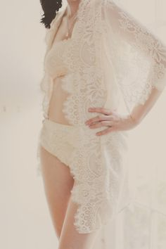 Swan Queen Scalloped Lined Bridal lace & silk by stylemadehere, $350.00