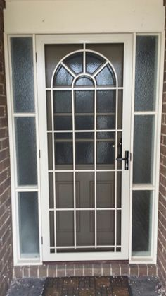 Steel security door with stainless steel mesh installed in Blackburn. & Steel security door with stainless steel mesh installed in ...
