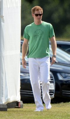 "Prince ""Charming"" Harry ready to play Polo at Coworth Polo Club in Ascot."