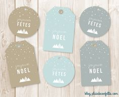 Free Printable Gift Tags - Blog rain confetti - available in French, Spanish and English