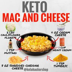 Keto Mac and Cheese – this super easy low carb mac and cheese recipe is made with zucchini noodles. It's thick and creamy without any use of flour so it's also gluten free! With only 5 carbs per serving, it's perfect for those on a keto diet as well! Cetogenic Diet, Diet Food List, Low Carb Diet, Ketogenic Recipes, Low Carb Recipes, Diet Recipes, Keto Foods, Lunch Recipes, Dessert Recipes